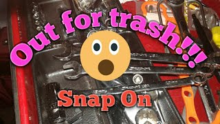 Tool Box With Snap On Tools Out For Trash!!!