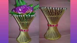 Newspaper pot flower vase craft out of waste the blue sea how to make flower vase diy simple paper craftflower pot making mightylinksfo