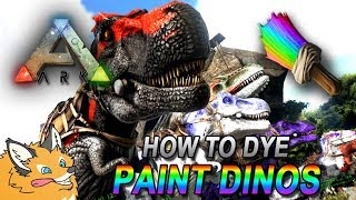 how to dye paint color your dinos ark survival evolved