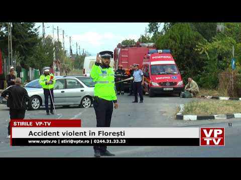 Accident violent în Florești