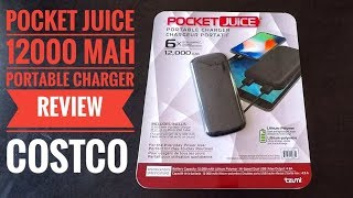 Pocket Juice 12000mAh Portable Charger Review from Costco