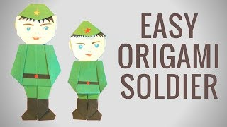 Солдат оригами своими руками к 23 февраля. День защитника отечества. В этом видео я покажу как сделать солдатика из бумаги. Его можно использовать как игрушку, а также как деталь на панно или открытку.  Подписывайся на мой канал,