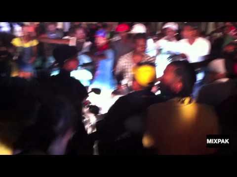 vybz kartel gets swarmed by fans leaving the go go wine vide