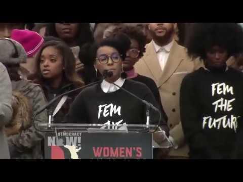 "Janelle Monáe at Women's March: ""I March Against the Abuse of Power"""