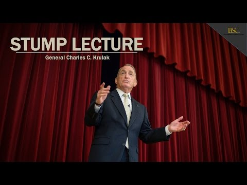 General Charles Krulak - 2015 Stump Entrepreneurship Lecture
