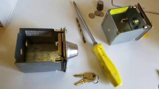 How to open coin washer without key