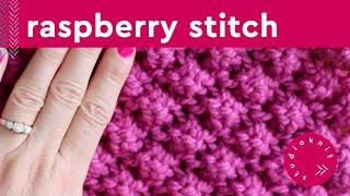 Raspberry Trinity Astrakhan Stitch | Bobble Knitting Pattern