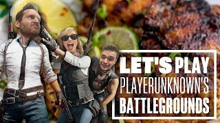 Let's Play PUBG gameplay with Aoife, Chris and Ian - JERK CHICKEN?!