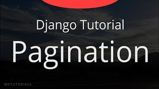 Django - Pagination Tutorial