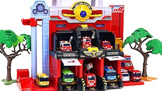 Fire out! Fire rescue team dispatched! Tayo Fire Station Playset   PinkyPopTOY