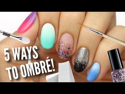 5 Ways To Get Ombre / Gradient Nails!