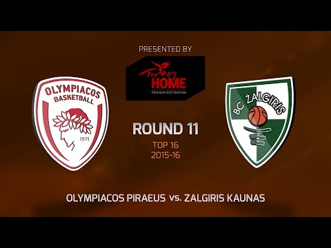 Highlights: Top 16, Round 11, Olympiacos Piraeus 74-59 Zalgiris Kaunas
