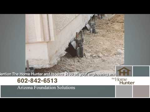 Arizona Foundation Solutions' owner Bob Brown was recently features on the Home Hunter TV Show, talking about common foundation problems. Arizona Foundation Solutions operated for 15 years in Phoenix and Tucson as Arizona RamJack, changing the name last year to better reflect the broad scope of foundation repair services offered by the company. In this interview Bob lists a few visible signs of foundation problems that homeowners should be looking for. Things like cracks in the drywall, doors and windows that no longer work properly, slopes and cracks on the floors, as well as foundation wall cracks can all be signs of structural issues. Bob recommends calling for help right away, because if left untreated, these problems can severely compromise the building's structural integrity. As for the source of the problem, only a professional and thorough inspection can determine if it is due to foundation settlement, or foundation heaving due to clay soil expansion. The company provides Free inspections and estimates, and offers the best warranty in the business. Contact us for more information and to schedule your free inspection.