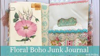 Boho Floral Junk Journal By Beth Wallen!