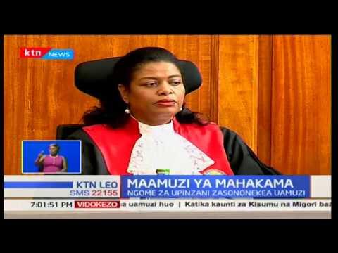 Maamuzi ya Mahakama:Mahakama yaidhinisha uchaguzi wa rais uhuru Kenyatta