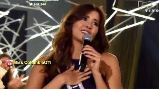 Paulina Vega, Miss Universo 2014 durante el Miss Colombia 2015