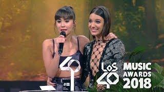 Aitana y Ana Guerra Premio Artista Revelación Los40 Music Awards