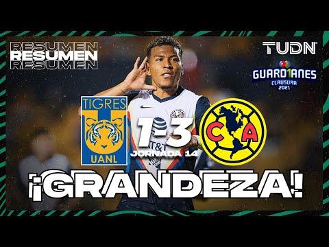 Resumen y goles | Tigres 1-3 América | Torneo Guard1anes 2021 Liga MX – J14 | TUDN