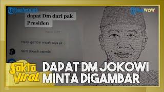 Viral Pemuda Mengaku Dapat DM dari Jokowi, Minta Wajahnya Digambar dan Diberi Sepeda, Ini Faktanya
