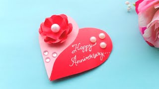 Beautiful Handmade Anniversary Card Idea / DIY Greeting  Cards for Anniversary/ valentine's day card
