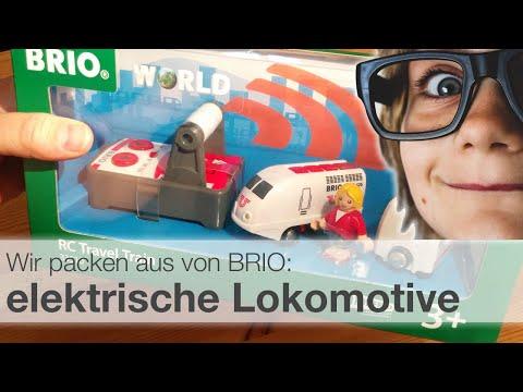Brio Lokomotive RC Travel Train 33510 - elektrische Eisenbahn für Holzschienen