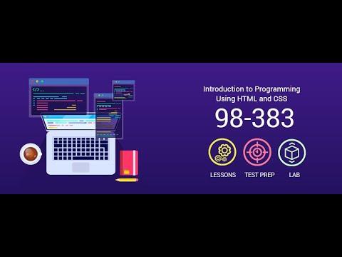 Microsoft MTA HTML & CSS 98-383 Exam Guide ... - YouTube