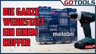 Perfekte Geschenkidee ! Die mobile Werkstatt von METABO - SB18L Akkuschlagbohrschrauber + Zubehör
