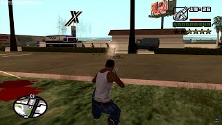 GTA San Andreas - M4 Assault Rifle - reaching Hitman Level at the very beginning of the game