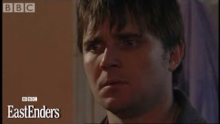 Trevor starts a house fire to trap Little Mo on Halloween - EastEnders - BBC drama