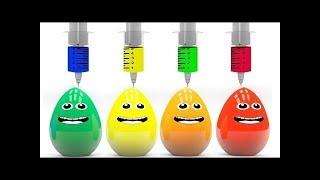 Яйца с сюрпризом Учим цвета Surprise eggs Развивающий мультик для детей Новые 2017
