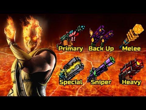 Pixel Gun 3D - Burning (Fire) Weapons Gameplay
