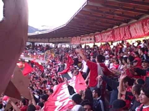 """DISTURBIO ROJO BOGOTA, FEB 2009 (1/6)"" Barra: Disturbio Rojo Bogotá • Club: América de Cáli"