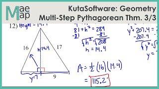 KutaSoftware: Geometry- Mulit-Step Pythagorean Theorem Problems Part 3