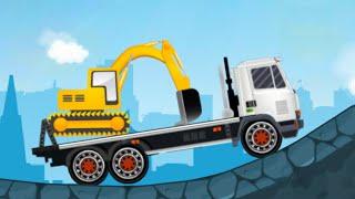 Мультики про машинки - Трейлеры транспортеры. Мультфильмы развивающие.
