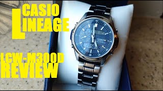 Casio LINEAGE LCW-M300D Solar/Multiband 6 Review: JDM Greatness