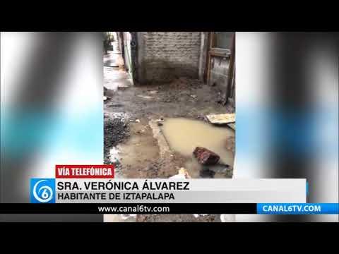 Denuncian casas afectadas por aguas negras en la U.H Ermita Zaragoza