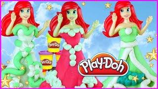 Play Doh Disney 🧜♀️ Mała Syrenka 🧜♀️ Arielka, Eryk, suknia ślubna 🌊 DIY