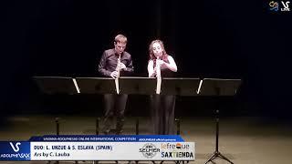 DUO L. Unzue & S. Eslava play Ars by C. Lauba #adolphesax