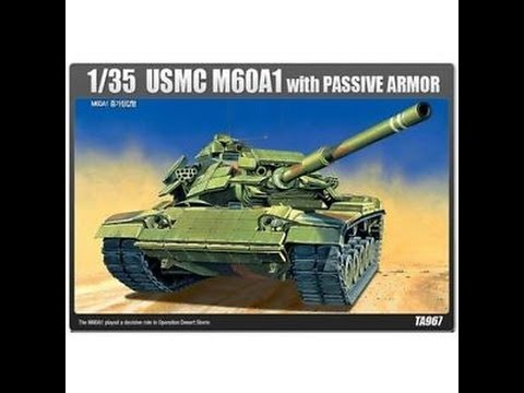 ACADEMY MINICRAFT USMC M60-A1 WITH RISE / PASSIVE ARMOR PLASTIC MODEL 1/35