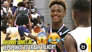 Bronny James Jr RESPONDS to TRASH TALKER at First Day of USBA Nationals!! Full Highlights