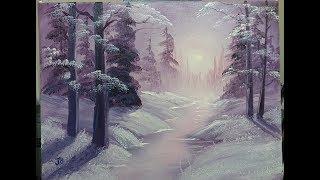 Winter Light - Wet On Wet - Full Painting