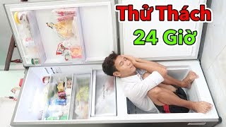 Thử Thách 24H Sống Trong Nhà Tù Tủ Lạnh Đầy Đủ Tiện Nghi   24h Sống Trong Tủ Lạnh