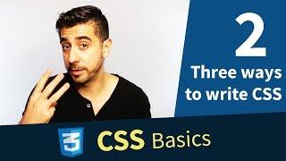 Three ways to write CSS