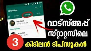 വാട്സ്അപ്പ് സ്റ്റാറ്റസ് കിടിലന് ടിപ്സുകള് | Whatsapp Status Tips And Tricks Malayalam |  Whatsapp