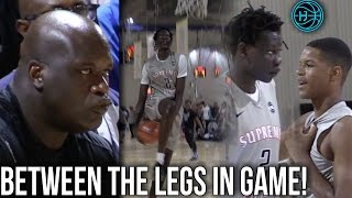First Game Bol Bol & Shareef O'Neal Play Together in Front of SHAQ! Bol Bol Dunks Between the Legs!!
