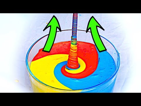 "How to make fluid ""climb"" up! AMAZING SLIME EXPERIMENT!"