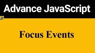 Focus Event in JavaScript (Hindi)