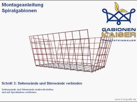 Spiral Gabionen Montage   Gabionen Kaiser