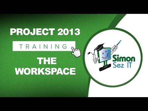 Microsoft Project 2013 Tutorial - The Workspace - YouTube