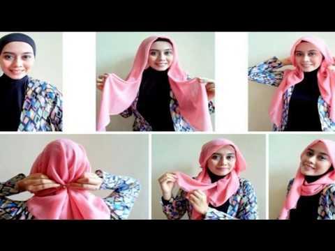 Tutorial Hijab Segi Empat Yang Praktis Dan Mudah Kaskus